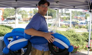 Balloon Twisting at the Five Points School Supply Drive, Balloonopolis, Columbia, SC