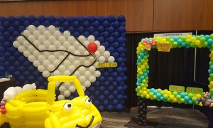 All Roads Lead to Myrtle Beach, Balloon Wall, by Balloonopolis, Columbia, SC