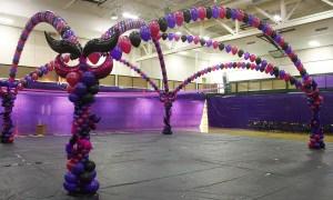 mardi gras balloon dance floor, by Balloonopolis, Columbia, SC