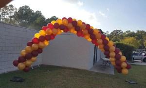 Helium Outdoor Balloon Arch, by Balloonopolis, Columbia, SC - Balloon Arches