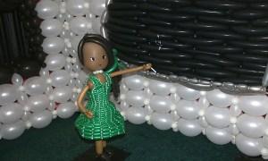 SC State Fair - Balloon girl at Blackboard, by Balloonopolis, Columbia, SC - State Fairs