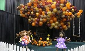 SC State Fair Balloon Girls and Tree, by Balloonopolis, Columbia, SC - State Fairs
