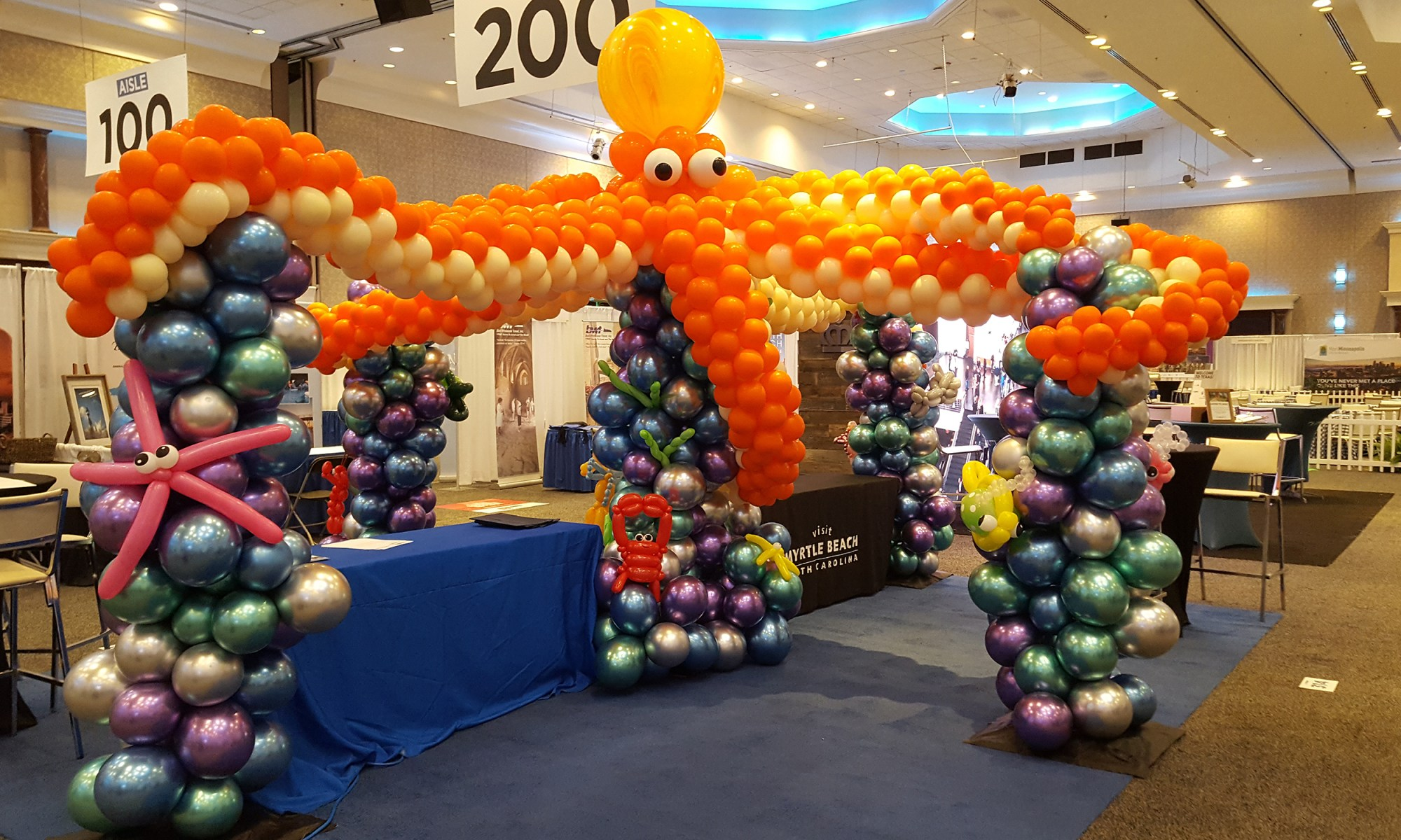 Octopus - Trade Show Booth Decor - Balloonopolis, Columbia, South Carolina