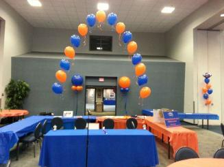 Blue and Orange single arch