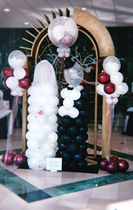 Bride and Groom Balloon Sculptures