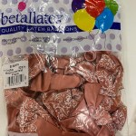 betallatex 11 50 globos rose gold -rallas