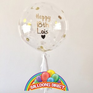 """custom 22"""" name bubble balloon from balloons direct"""