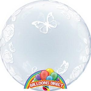 "custom 22"" buttelflies bubble balloon from balloons direct"