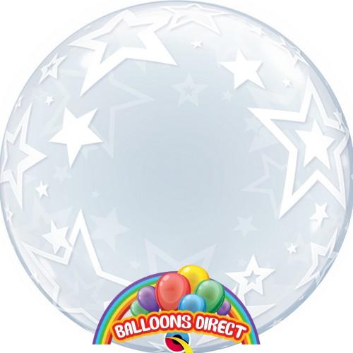 "custom 22"" stars bubble balloon from balloons direct"