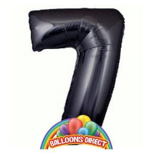 Number 7 Black Foil Balloon