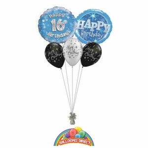 16th birthday blue bouquet from balloonsdirect.ie