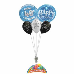 40th birthday blue bouquet from balloonsdirect.ie
