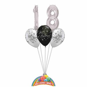 18th birthday balloon bouquet from balloonsdirect.ie