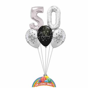 50th birthday balloon bouquet from balloonsdirect.ie