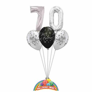 70th birthday balloon bouquet from balloonsdirect.ie