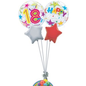 18th birthday generic balloon bouquet from balloonsdirect.ie