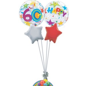 60th birthday generic balloon bouquet from balloonsdirect.ie