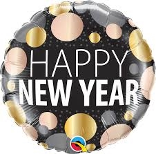 Our happy new year dots 18 from balloons Direct.ie