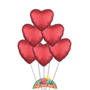 Red Heart Balloon Bouquet