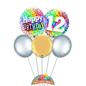 Our age 12 generic balloon bouquet from balloons direct.ie