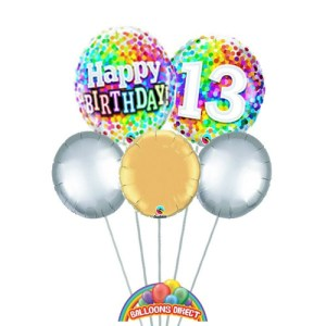Our age 13 generic balloon bouquet from balloons direct.ie