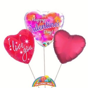 Our Standard Valentines balloon bouquet from balloons direct.ie