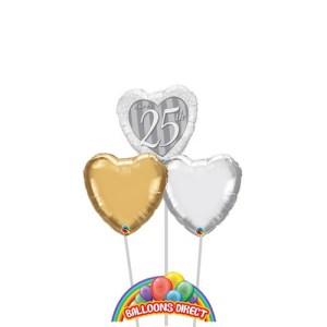 Happy 25th Anniversary Balloons