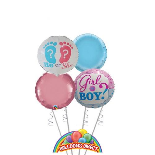 gender reveal premium balloon bouquet