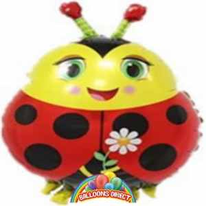ladybird head foil balloon