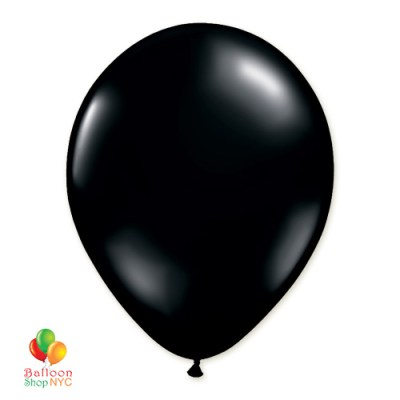 Black Latex Party Balloon 12 inch Inflated delivery Balloon Shop NYC