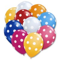 Ultimate Summer Latex Party Balloons Polka Dot 12 inch from Balloon Shop NYC