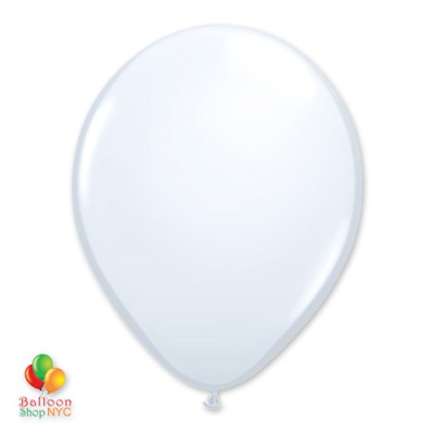 White Latex Party Balloon 12 inch Inflated delivery Balloon Shop NYC