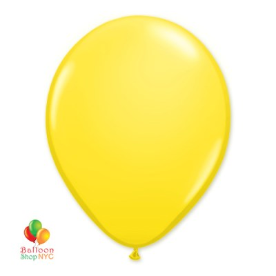 Yellow Sunshine Latex Party Balloon 12 inch Inflated delivery from Balloon Shop NYC