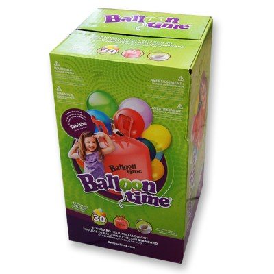 Helium Disposable Tank and Latex Balloons Kit Small