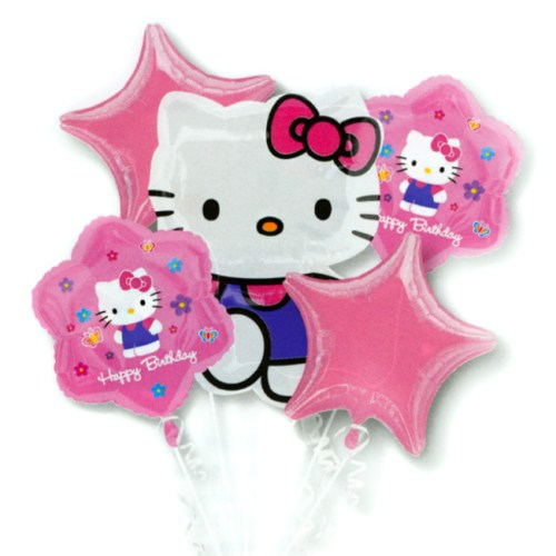 Hello Kitty Birthday Balloon Bouquet Inflated from Balloon Shop NYC