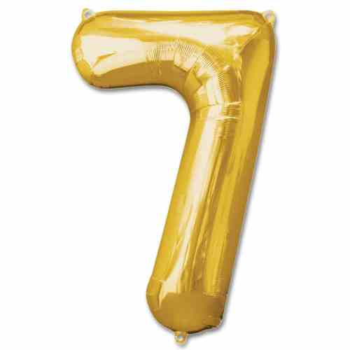 Number 7 Gold Jumbo Foil Balloon from Balloons Shop NYC