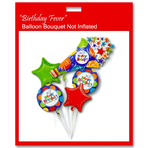 Birthday Fever Horn Balloon Bouquet from Balloon Shop NYC