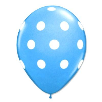 Caribbean Latex Party Balloons Polka Dot 12 inch from Balloon Shop NYC