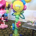 Sun and Flower Character Balloons Arrabgement