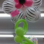 Tropical Balloons Bouquet with Zebra Printed Balloons