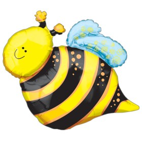 Happy Bee Foil Balloon from Balloon Shop NYC