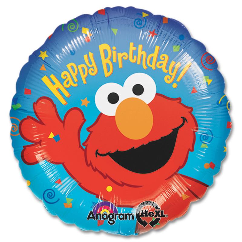 Shiny Balloons Happy Birthday Elmo Mylar Party Balloon 18 Inch Inflated  Balloon