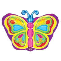 Bright Butterfly 18 Inch Foil Balloon from Balloon Shop NYC
