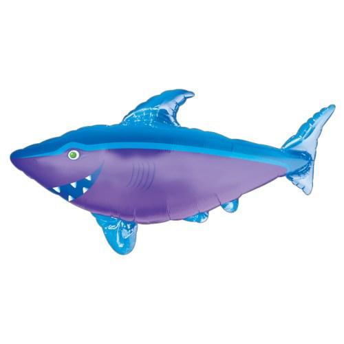 Blue Shark Foil Mylar Balloon from Balloon Shop NYC