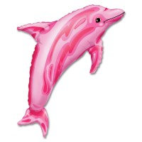 Pink Dolphin Foil Balloon from Balloon Shop NYC