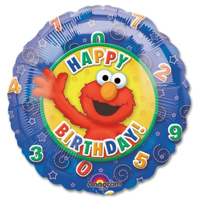 Elmo Happy Birthday Mylar Balloon from Balloon Shop NYC