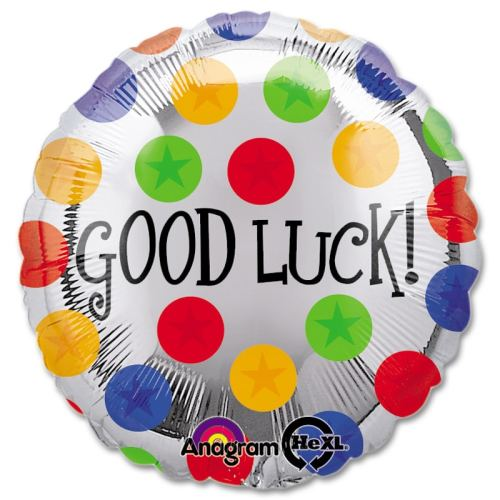Good Luck Dots Mylar Party Balloon from Balloons Shop NYC