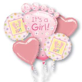 Baby Girl Birthday Balloon Bouquet From Balloons Shop NYC