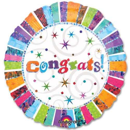 Congrats Mylar Party Balloon from Balloons Shop NYC