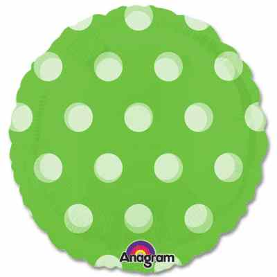 Lime Green Dots Magicolor Party Balloon from Balloons Shop NYC
